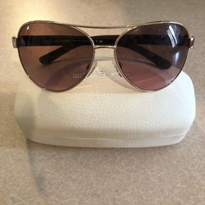 Micheal Kors Gold Frame sunglasses with case